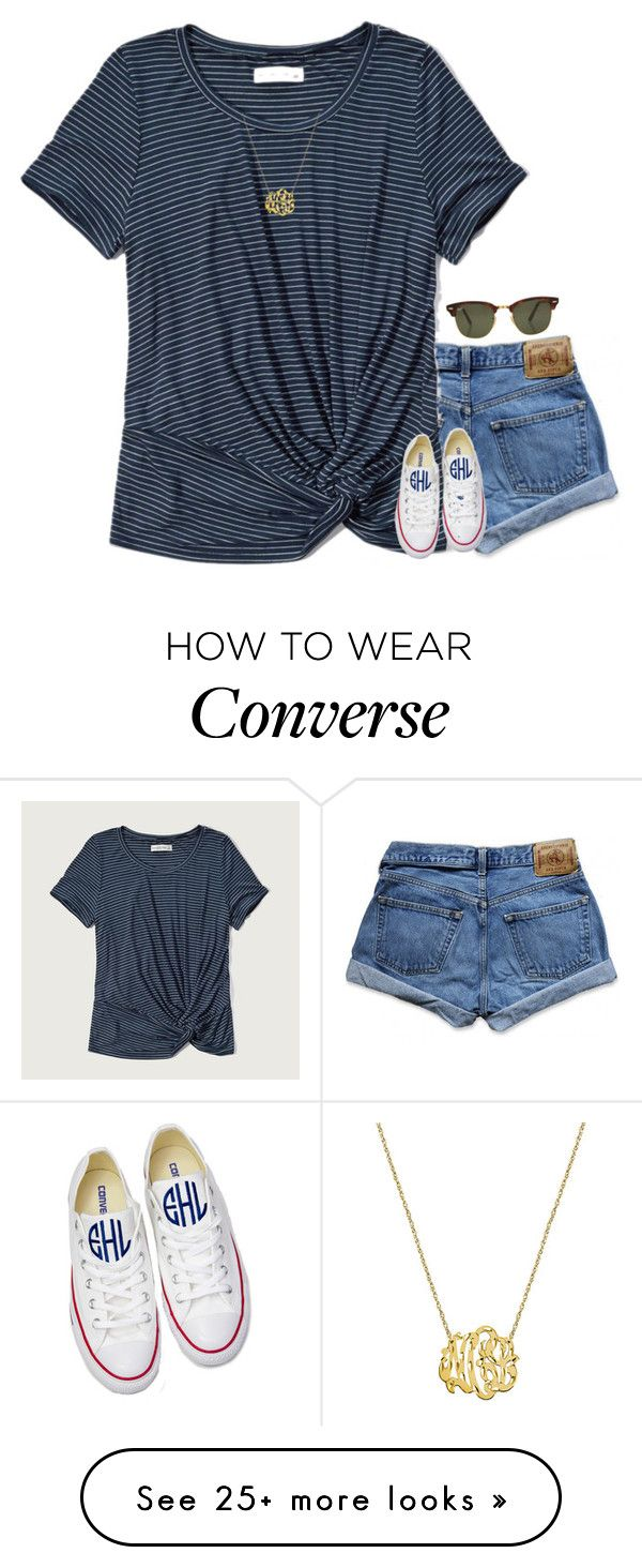 """""""{I should be studying, but I'm on polyvore instead...}"""" by preppy-southern-girl-1-2-3 on Polyvore featuring Abercrombie & Fitch, Converse and Rayban"""