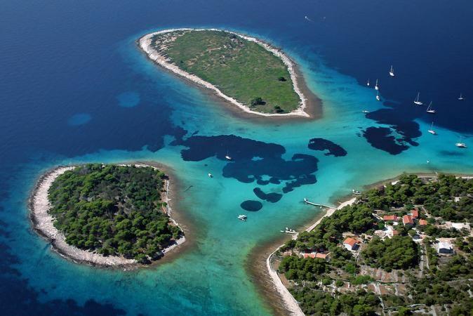 Blue Laggon on Island Drvenik-Croatia Trogir, we go there kayaking in summer 2014 www.trogir-kayak.com