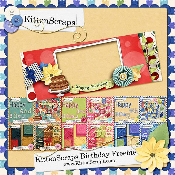 Facebook Fan Freebie | Kitten Scraps