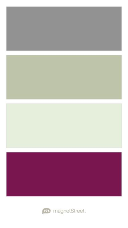 Classic Gray, Sage, Mint, and Sangria Wedding Color Palette - custom color palette created at MagnetStreet.com