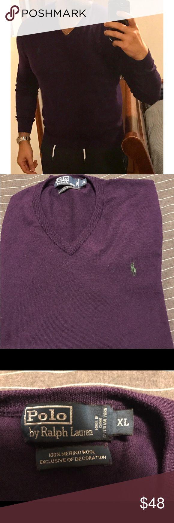 SALE Polo by Ralph Lauren 100% Merino Wool Sweater Polo by Ralph Lauren 100% Merino Wool Sweater. Size is XL Polo by Ralph Lauren Sweaters