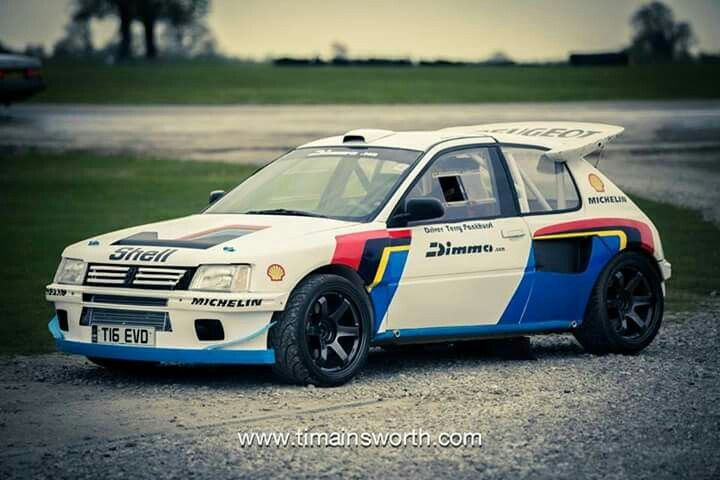 Peugeot 205 dimma rally car