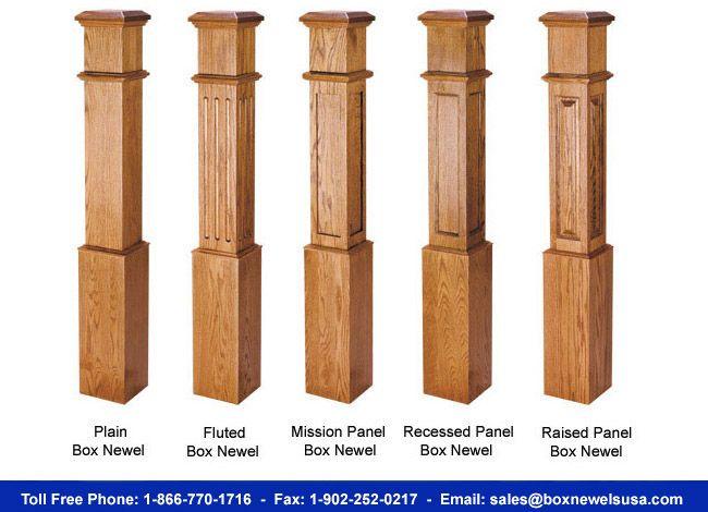 Box Newels USA For Hardwood Box Newels & Craftsman Square Newel Post $150