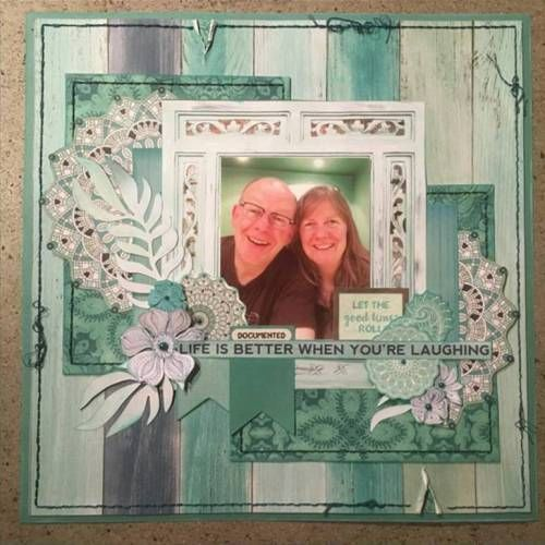 January Kaiser Gallery - Kaisercraft Official Blog - 'Life is Better When You're Laughing' Layout by Vanessa Cook using Kaisercraft 'Ubud Dreams' collection. Saved from kaisercraft.com.au/blog - Wendy Schultz ~ Scrapbook Layout.