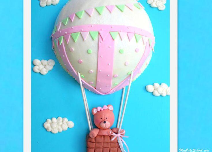 Adorable Hot Air Balloon Cake Video Tutorial by MyCakeSchool.com!