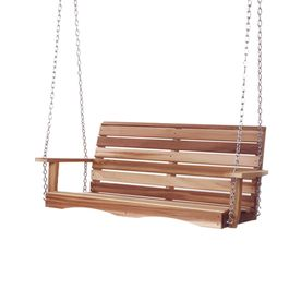 All Things Cedar 2-Seat Wood Rustic Porch Swing