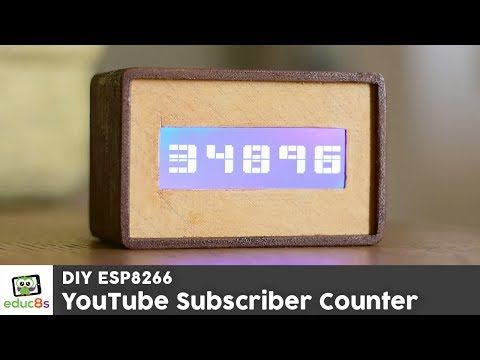 ESP8266 Project: YouTube Subscriber Counter with a Wemos D1 mini and a 20x4 I2C LCD display - YouTube