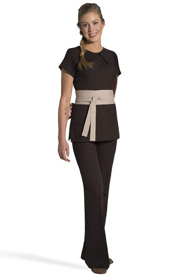 62 best images about uniform on pinterest florence for Spa housekeeping uniform