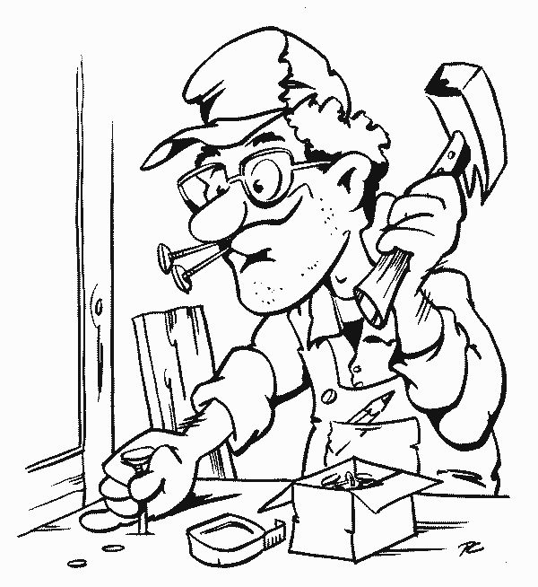 find this pin and more on clipart handyman by stepdonds carpenter coloring page
