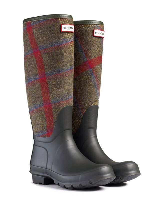 Check wellies by Hunter