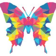 """Les grilles de kalys - """"papillon geometric rainbow"""" - envoi mail"""