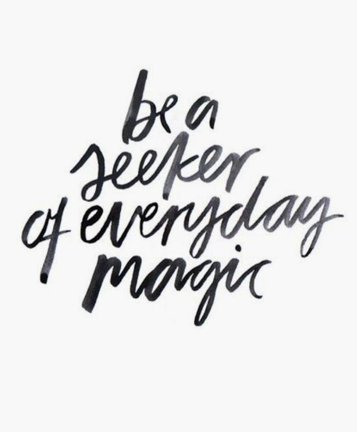 be a seeker.