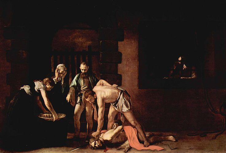 De onthoofding van Johannes de Doper van Caravaggio (1608)