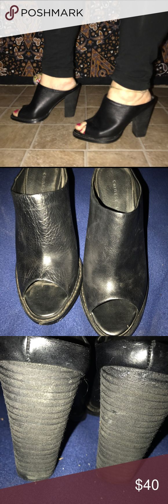 Chinese Laundry leather Black Mules size 10 Chinese Laundry leather Black Mules size 10 Chinese Laundry Shoes Mules & Clogs