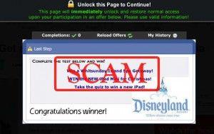 Disneyland Trip Scam / http://jobsover50.ca