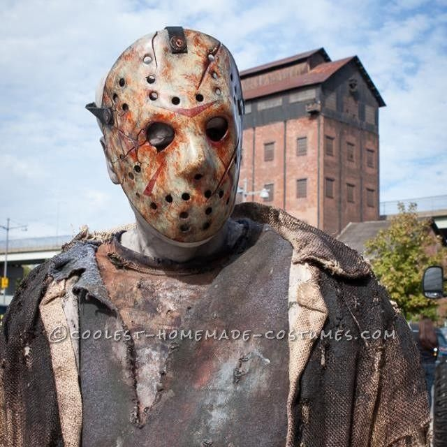 scary homemade jason voorhees costume from freddy vs jason