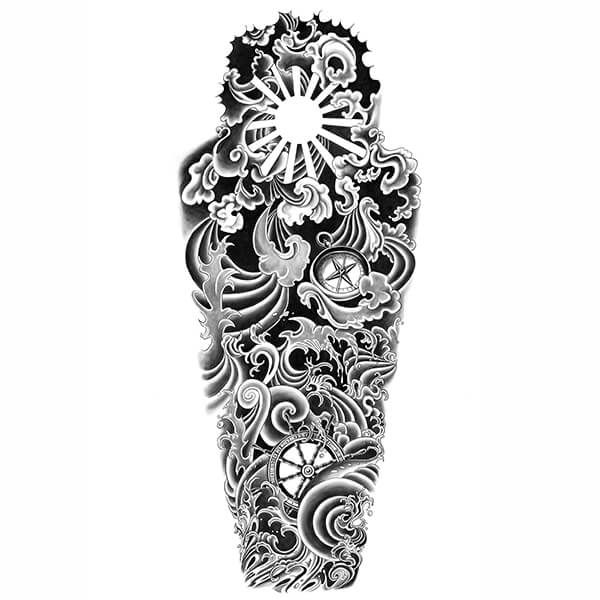 Best 25+ Nautical Tattoo Sleeve Ideas On Pinterest