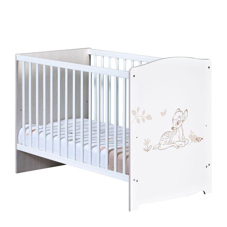 Lit barreaux motifs bambi bambi lits pour chambre des - Alinea table a langer ...