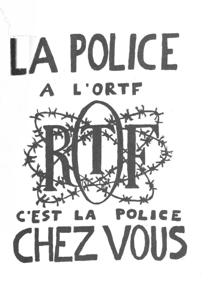 1968 mai la police l 39 ortf c 39 est la police chez vous affiches politiques 1968 pinterest. Black Bedroom Furniture Sets. Home Design Ideas