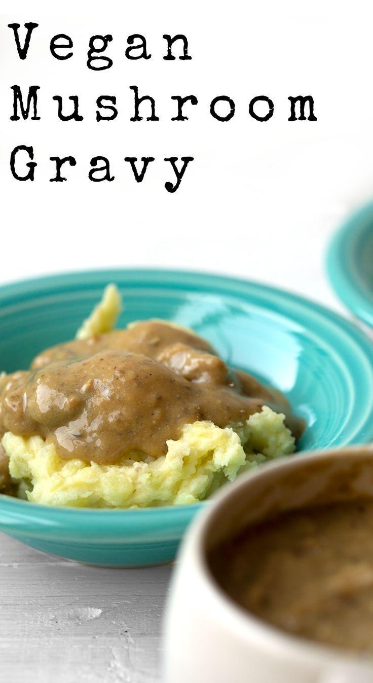 Easy Vegan Mushroom Gravy Healthyhappylife Com Vegan Mushroom Gravy Mushroom Gravy Vegan Gravy