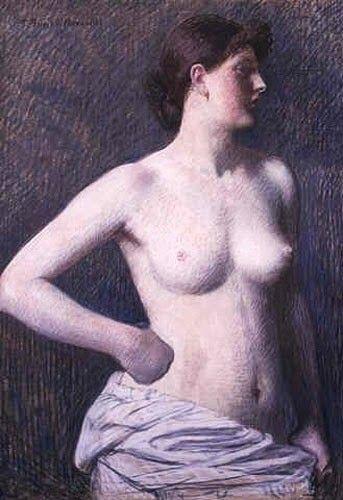 Pierre Puvis de Chavannes,  Suzanne Valadon ritratta nuda, pastelli su carta, 1880 http://art4arte.wordpress.com/2014/09/12/il-volto-e-il-corpo-della-terribile-maria-suzanne-valadon-modella-di-puvis-de-chavannes/