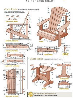 Free Adirondack Chair Patterns - WoodWorking Projects & Plans