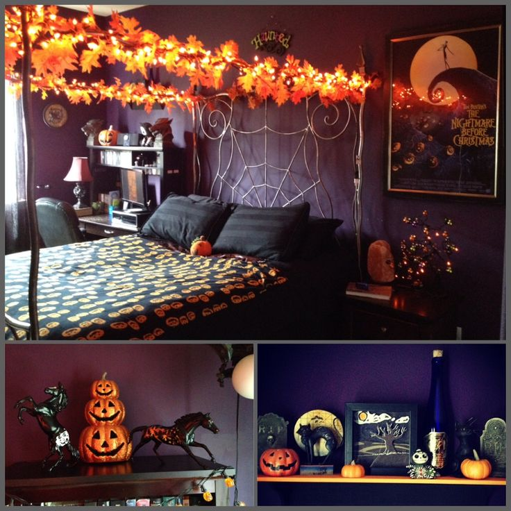 a halloween themed bedroom