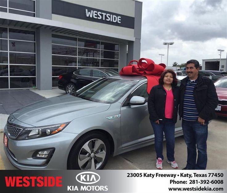 Congratulations to Felipe Gutierrez on your #Kia #Optima Hybrid purchase from Orlando Baez at Westside Kia! #NewCar
