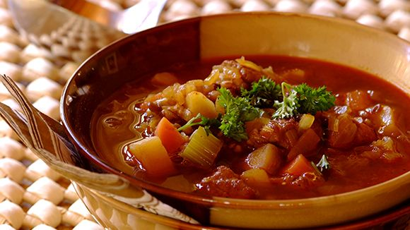 Beef and lentil soup