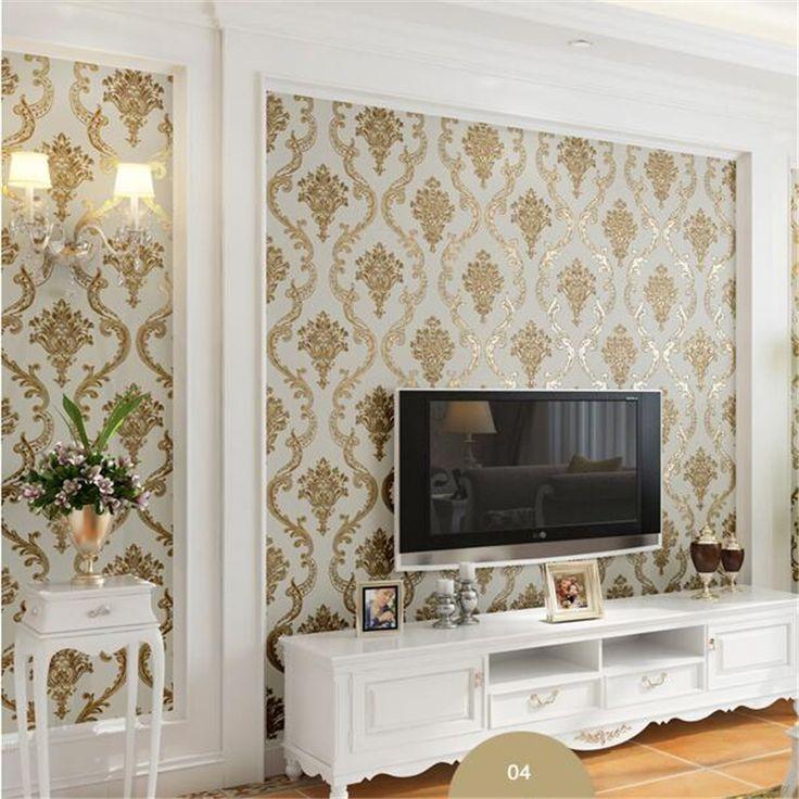 Beibehang Papel De Parede European Style Damascus Wallpaper Nonwovens Wallpaper  Living Room 3D TV Background Wallpaper Part 88