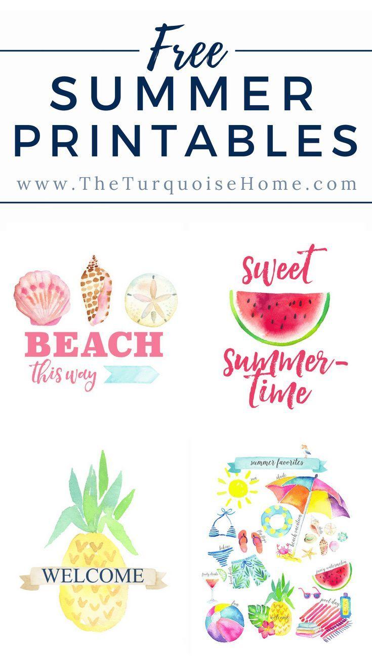 Summer Favorites Printable More Summer Printables Free Summer