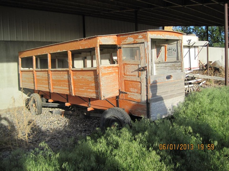 This Is The Last Horse Drawn School Bus In Blackfoot Idaho It Was Salvaged And Repainted By