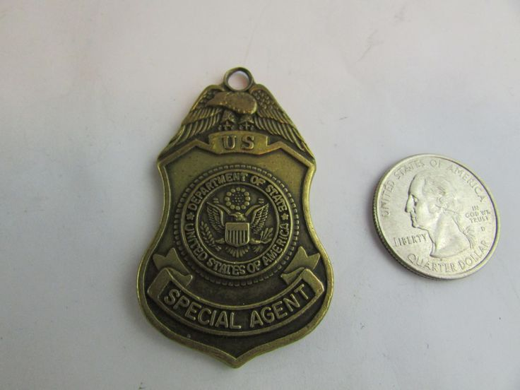 Vintage US Department Of State Special Agent Diplomatic Security Service Key Chain Keychain by Cosmokra on Etsy