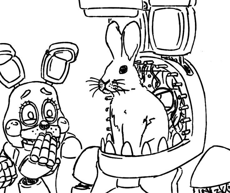 Why is there a bunny on your jaw? fnaf Pinterest