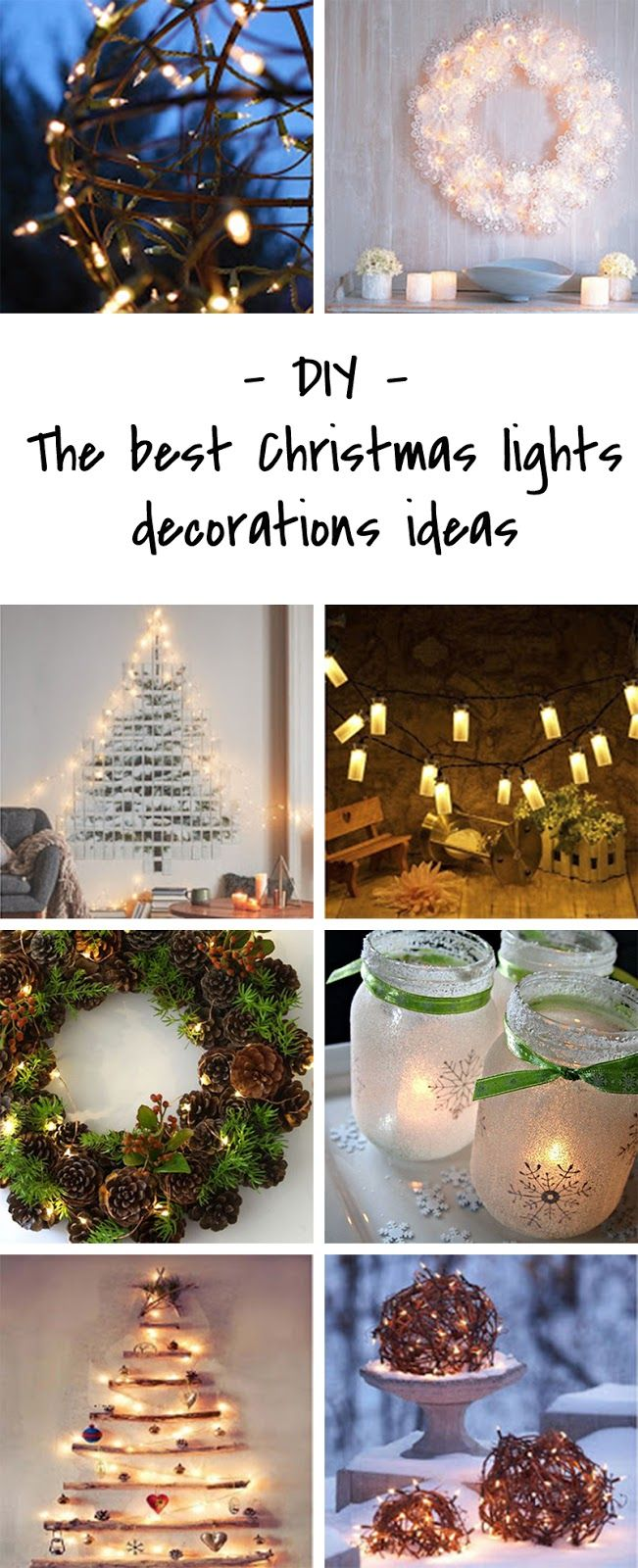 Simple and stylish Christmas lights decoration ideas