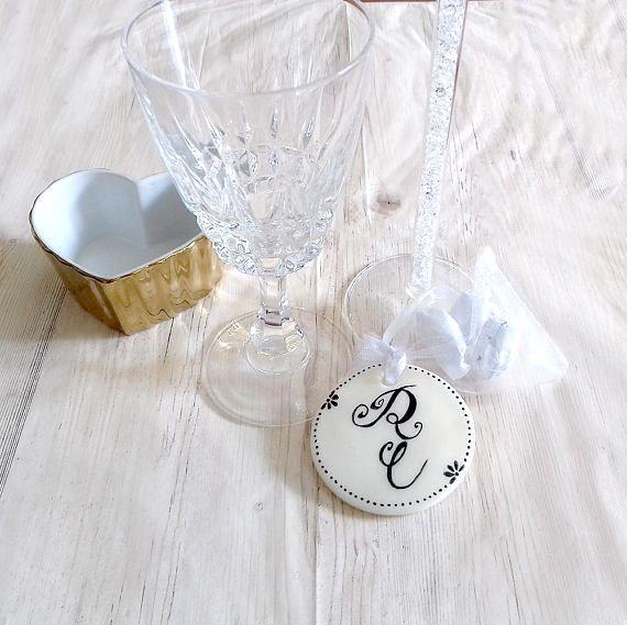 Wedding favors monogram custom organza white bag wedding gifts