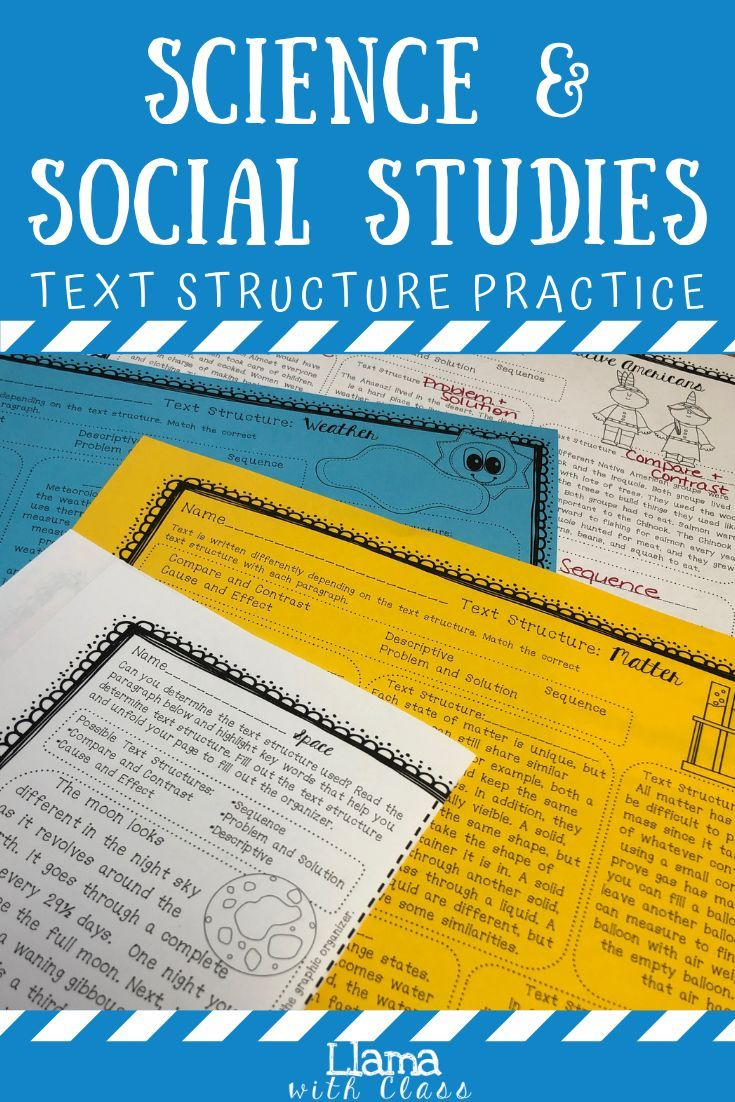 Text Structure W Science Social Studies Printable Distance Learning Upper Elementary Science Text Structure Worksheets Social Studies