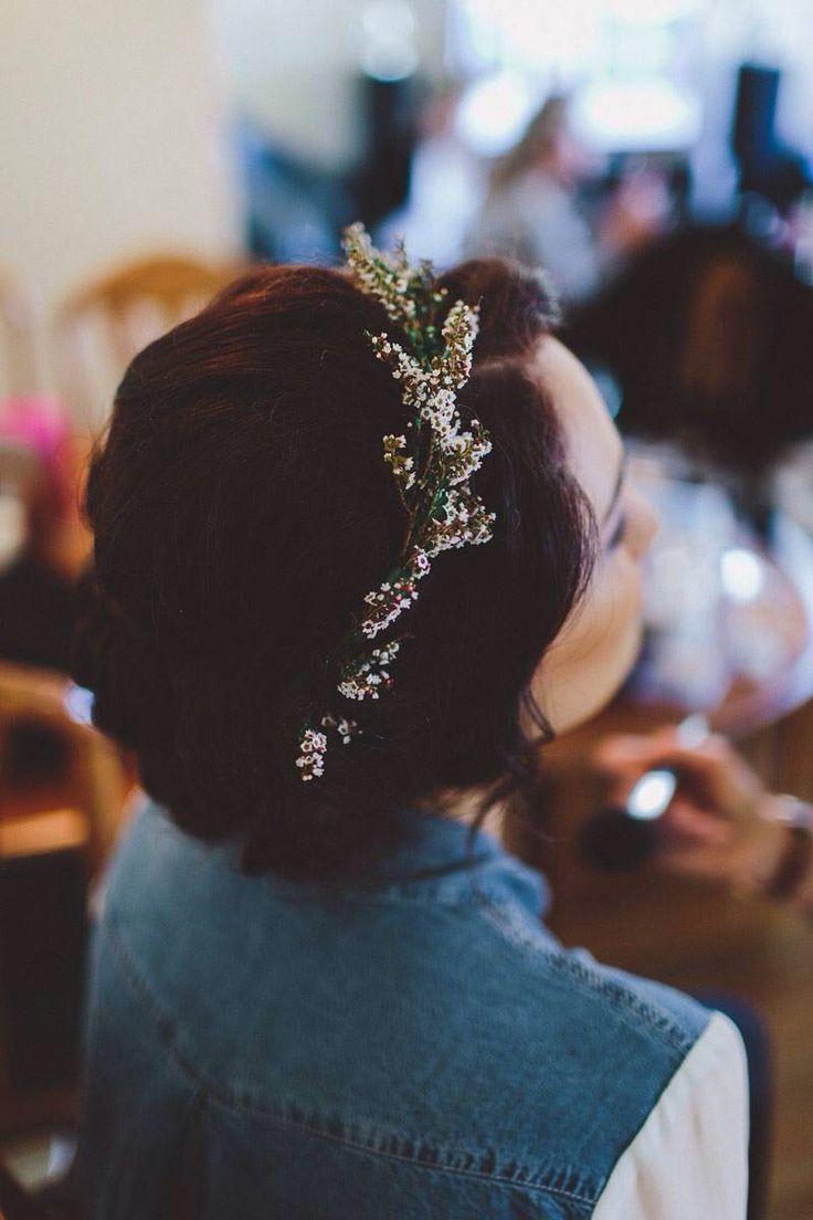 #vintage #small #flowercrown #bride