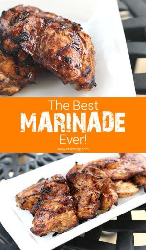 This recipe for the BEST MARINADE EVER uses simple ingredients and is packed with flavor. Perfect for both chicken and beef! The best marinade you'll ever