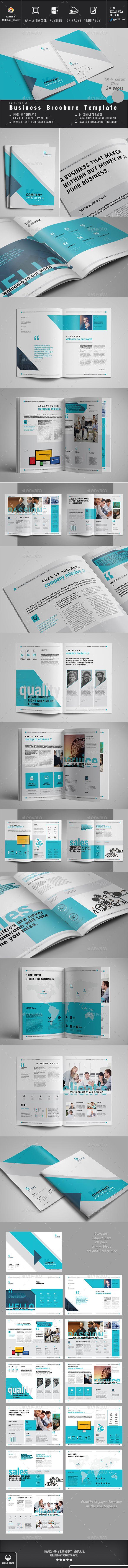 Business Brochure Design Template - Corporate Brochures Design Template InDesign INDD. Download here: https://graphicriver.net/item/business-brochure/18849369?ref=yinkira