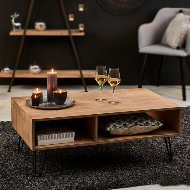 Bristol Table De Salon Brun H 40 X Long 100 X P 60 Cm Specialiste Depuis 40 Ans Deja Casa Decoration Table Basse Table Basse Table Basse Pas Cher