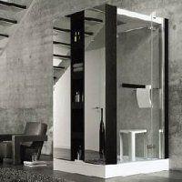 Kabina prysznicowa najwyższej klasy: Duscholux Free Cube z łaźnią parową, telefonem i masażami wodnymi
