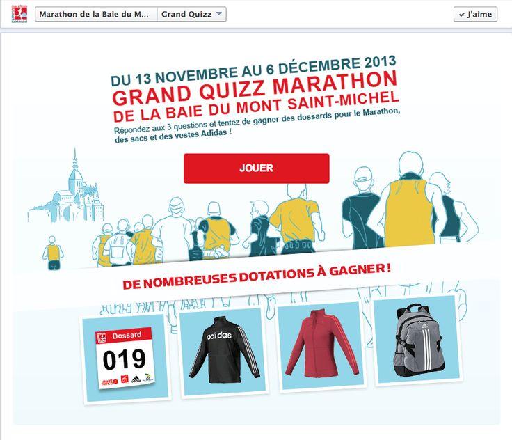 Poisson Bouge accompagne le Marathon de la Baie du Mont Saint Michel sur les réseaux sociaux et développe un quiz permettant de tester votre connaissance du Marathon pour ensuite avoir une chance d'être tiré au sort et peut être remporter l'un des lot mis en jeu.  Amis sportifs à vous de jouer !