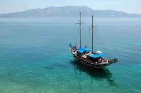 Weddings on kastos island with The M/S Christina cruise boat and Lefkas Weddings