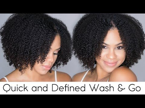 Quick and Defined Wash n Go on Natural Hair [Video] - Black Hair Information