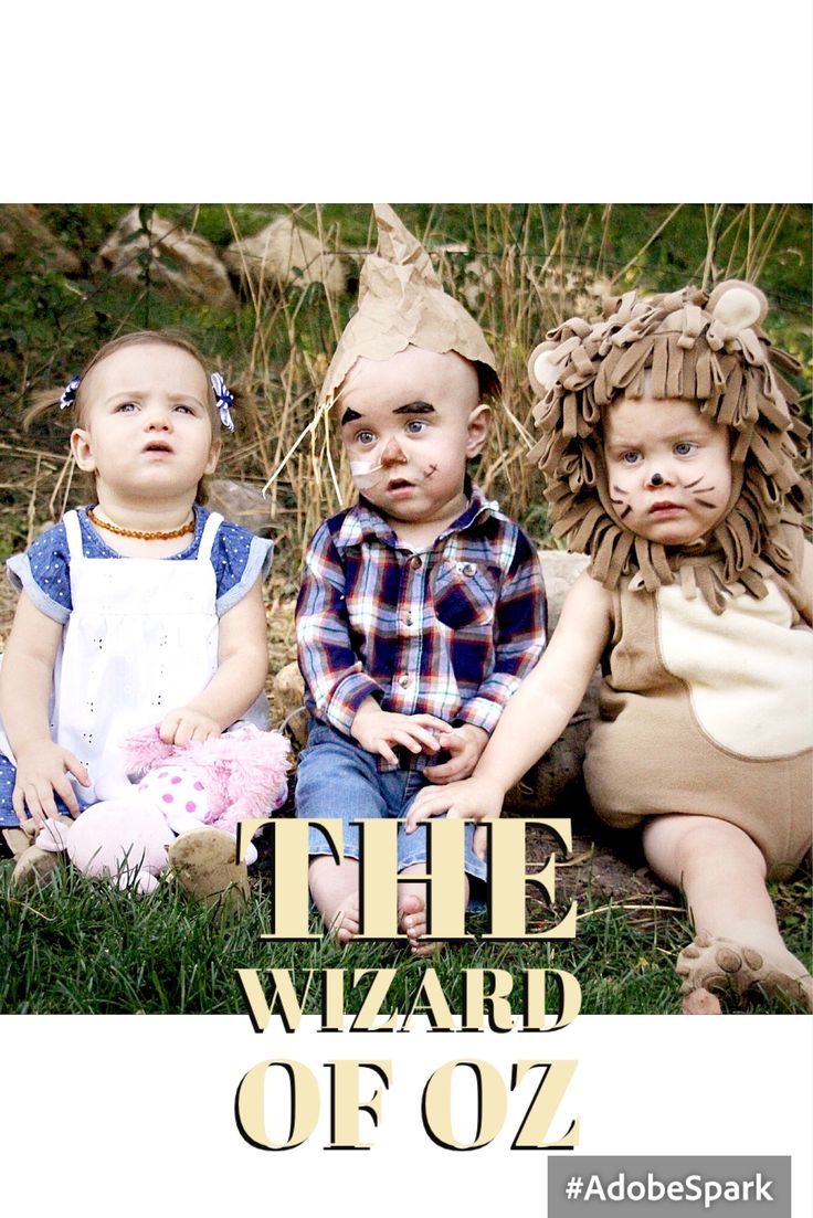 The Wizard of Oz triplet Halloween costumes!  The Tate Triplets