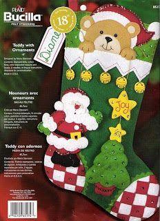 Este es un  patron muy sencillo para realizar una linda bota de Navidad . Excelente tambien para que la realizen los niños en casa.   Para...