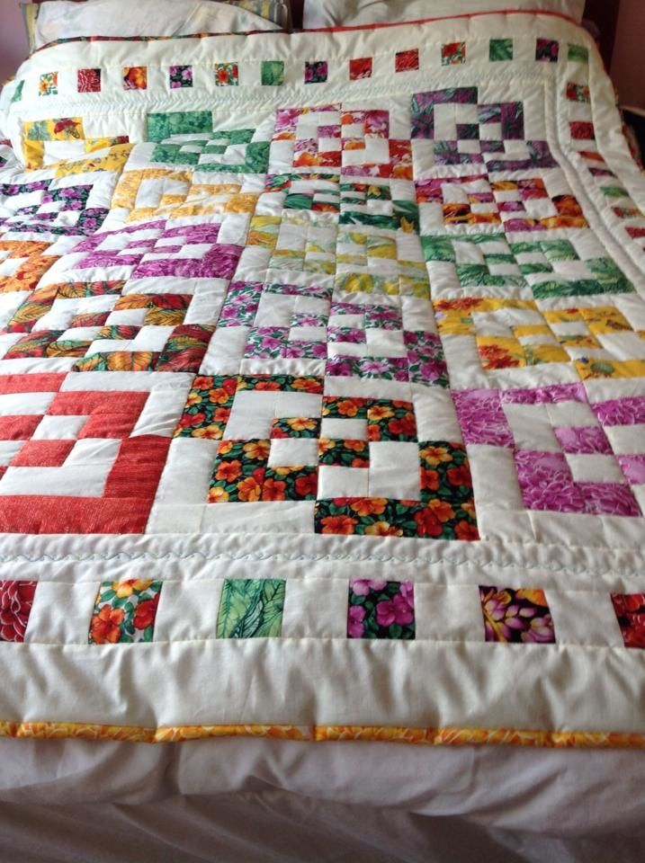 bento box quilt color kept together in this one - looks good!