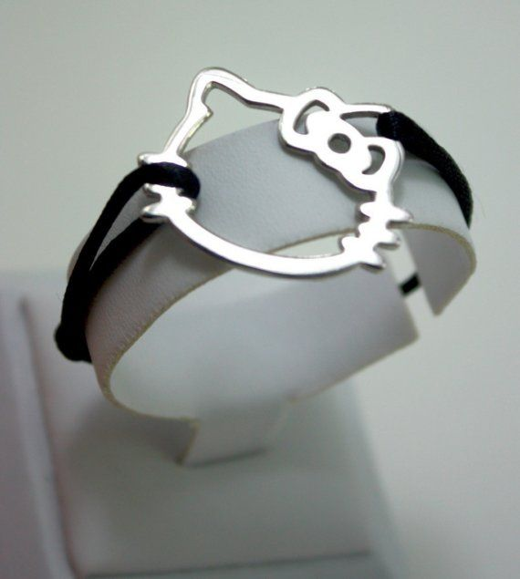 Hello Kitty bracelet silvergold by Coktaildrink on Etsy, $14.00
