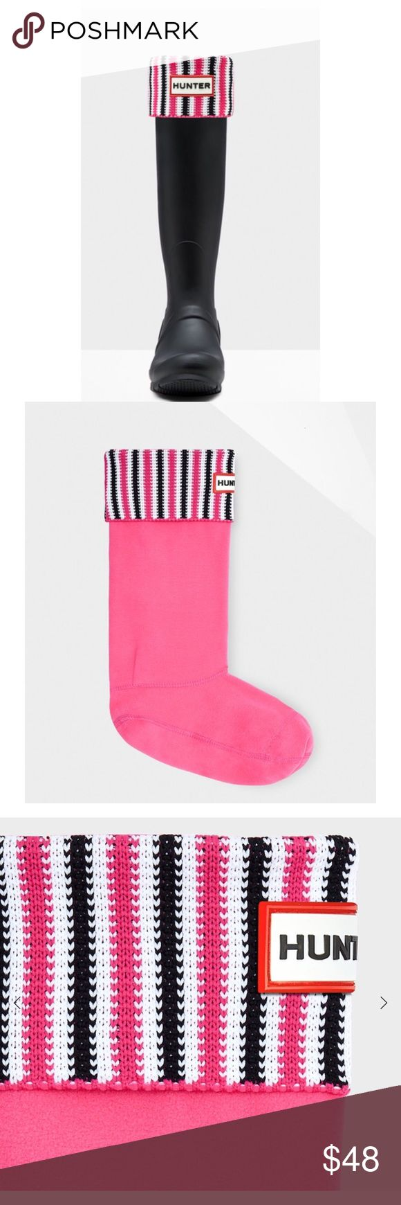 HUNTER TALL ROLLOVER DECK CHAIR SOCKS WKD SALE LOVE THESE! IN BOX. CAB BLEND WITH MULTIPLE HUNTER BOOTS FOR THAT ADDED POP!! SZ M. ✳️PRICE IS FIRM UNLESS BUNDLED. NO OFFERS Hunter Boots Accessories Hosiery & Socks
